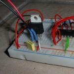 LF33CV mit Abblockkondensatoren für 3,3V-Versorgung