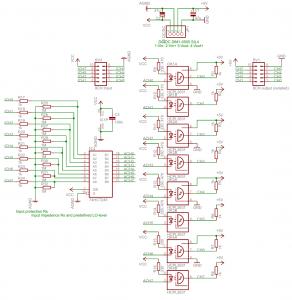Schaltplan galvanische Trennung für 8-Kanal Logic Analyzer